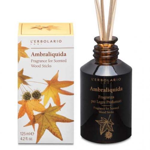 """L'Erbolario """"Ambraliquida"""" Ароматизированный раствор для пропитки ротанговых палочек"""