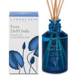 """L'Erbolario """"Fiore Dell'Onda"""" Ароматизированный раствор для пропитки ротанговых палочек"""