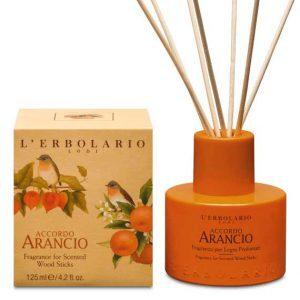 """L'Erbolario """"Accordo Arancio"""" Ароматизированный раствор для пропитки ротанговых палочек"""