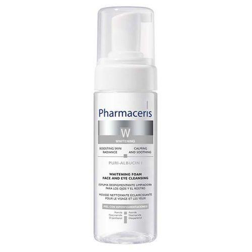 Pharmaceris W Puri-Albucin I Отбеливающая пенка для очищения кожи лица и глаз, 150 мл