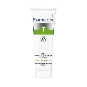 Pharmaceris T Sebo-Moistatic, krem nawilżająco-kojący do twarzy, SPF 30, 50 ml