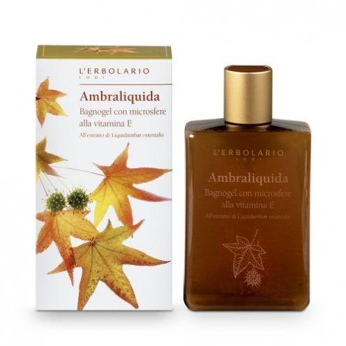 """L'Erbolario """"Ambraliquida"""" Гель для душа с микрогранулами с витамином Е"""