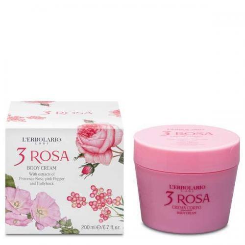 "L'Erbolario ""3 Rosa"" Крем для тела 200 мл"