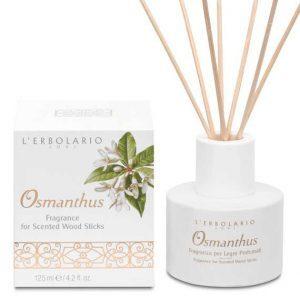 """L'Erbolario """"Osmanthus"""" Ароматизированный раствор для пропитки ротанговых палочек"""