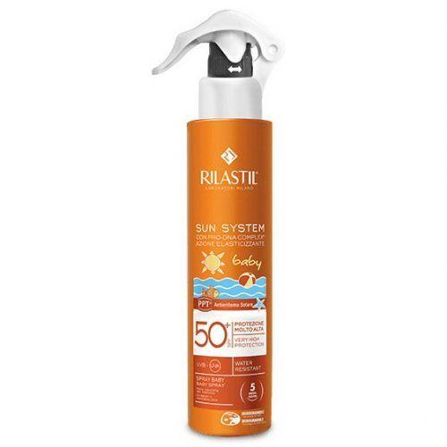 Rilastil Sun system PPT baby Прозрачный спрей для детей SPF 50+