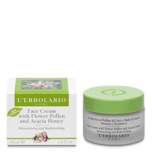 L'Erbolario Крем для лица с цветочной пыльцой и акациевым медом, 50 мл