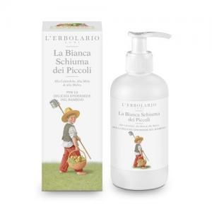 L'Erbolario Детская белая пенка для ванны c календулой