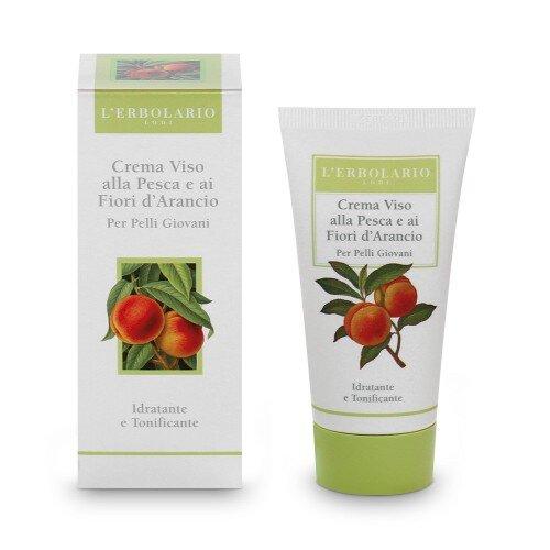 L'Erbolario Крем для лица с персиком и цветами апельсинового дерева для молодой кожи
