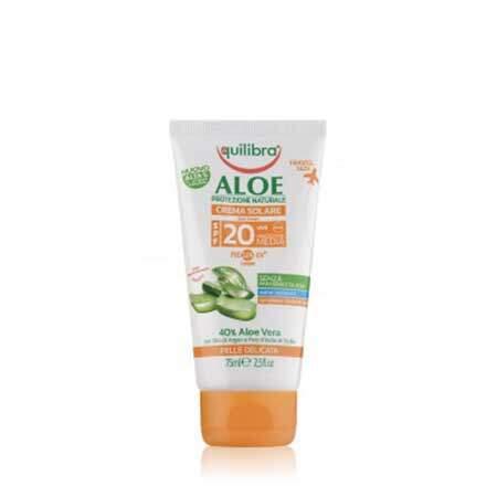 Equilibra Aloe Солнцезащитный крем SPF 20+ с комплексом PROSUN-UV