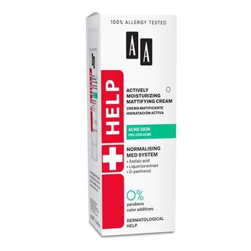 AA Help Acne Skin Дневной крем матирующий и увлажняющий