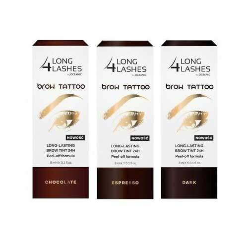 Long 4 Lashes Brow Tattoo Long Lasting Brow Tint 24h Peel Off Formula