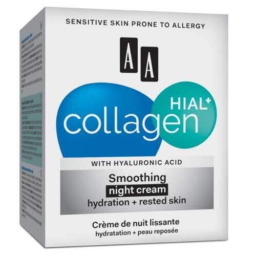 AA Collagen Hial+ Ночной разглаживающий крем увлажнение и отдых