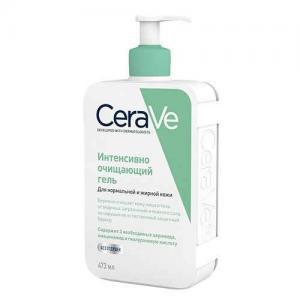 CeraVe Интенсивно очищающий гель для нормальной и жирной кожи лица и тела, 473 мл