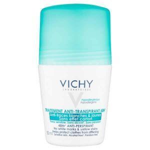 VICHY Deodorants Дезодорант-антиперспирант шариковый против белых и желтых пятен 48ч 50 мл