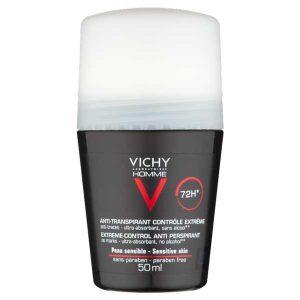 Vichy Homme Дезодорант шариковый мужской против избыточного потоотделения 72ч