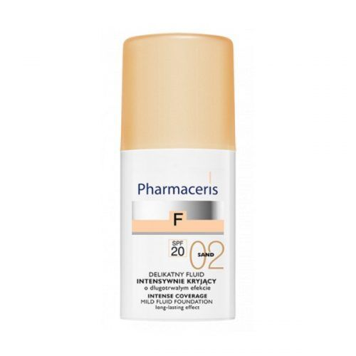 Pharmaceris F Intense Coverage Нежный тональный флюид SPF 20, Песочный