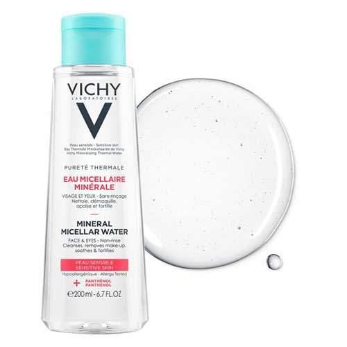 Vichy Мицеллярная вода с минералами для чувствительной кожи лица, глаз и губ Purete Thermale
