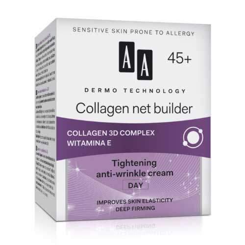 """AA Dermo Technology """"Чистый коллаген"""" Дневной подтягивающий крем против морщин 45+"""