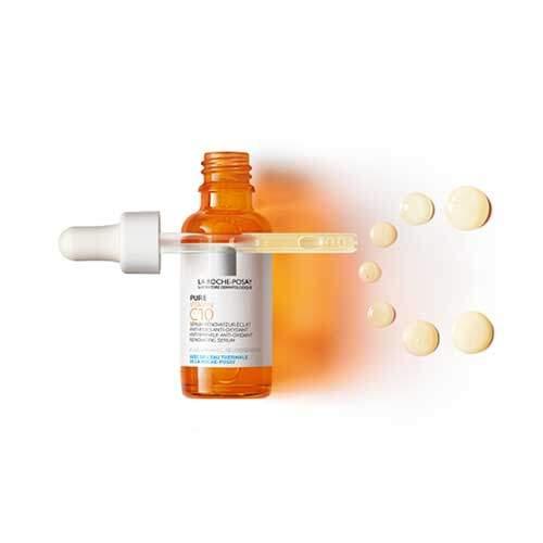 La Roche-Posay Vitamin C Антиоксидантная сыворотка для кожи лица и шеи для обновления кожи