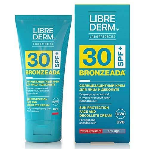 Librederm Крем солнцезащитный для лица и зоны декольте SPF30 Bronzeada