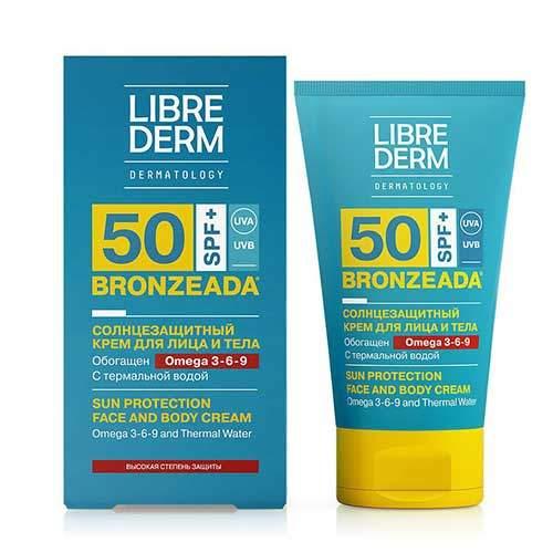 Librederm Солнцезащитный крем для детей SPF50+ с Омега 3-6-9 и термальной водой Bronzeada