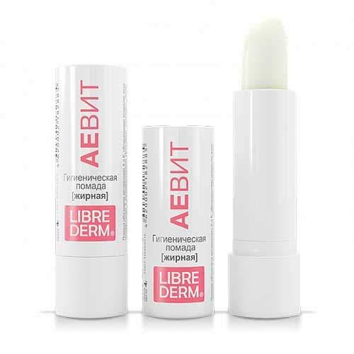 Librederm Гигиеническая губная помада жирная Vitamins AEVIT, 4гр