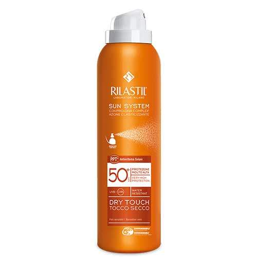 Rilastil SUN SYSTEM PPT Dry Touch Ультра лёгкий солнцезащитный спрей для тела SPF 50+