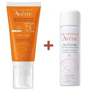 Набор Avene Крем солнцезащитный SPF50, 50мл + Термальная вода 50мл