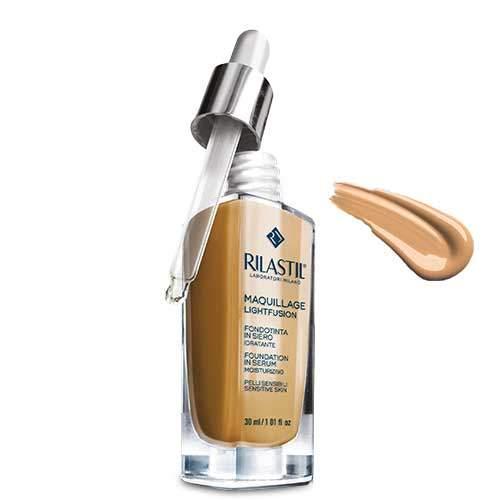 Rilastil Maquillage Lightfusion Антивозрастная тональная основа-сыворотка SPF15, тон 50, 30 мл