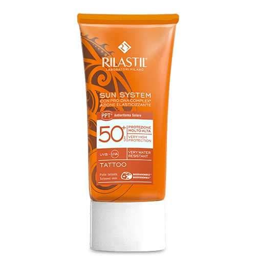 Rilastil SUN SYSTEM PPT Солнцезащитная эмульсия SPF 50+ для татуированной кожи