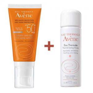 Набор Avene Антивозрастное солнцезащитное средство SPF50+, 50мл + Термальная вода, 50мл