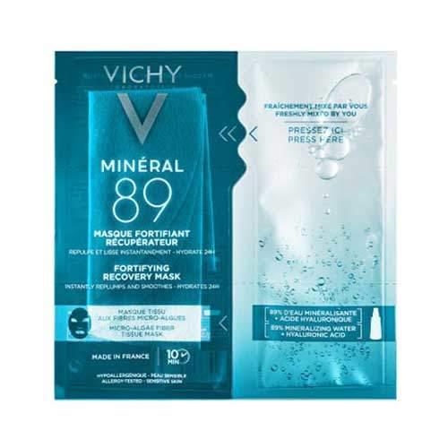 Vichy Mineral 89 Экспресс-маска на тканевой основе из микроводорослей, 29гр