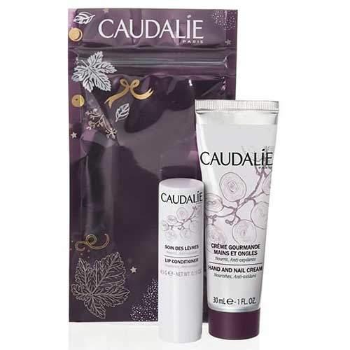 Набор Caudalie Изысканный крем для рук и ногтей, 30мл + Гигиеническая помада, 4,5гр