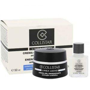 Набор Collistar Kрем–гель для лица энергетический против морщин и усталости, 50 мл + Лосьон после бритья для чувствительной кожи, 15 мл Linea Uomo