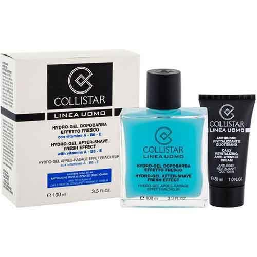 Набор Collistar Гидро-гель после бритья, 100 мл + Крем против морщин дневной, 30 мл Linea Uomo