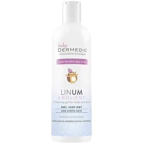 Dermedic Baby Linum Emolient кремовый гель для умывания для детей 200мл