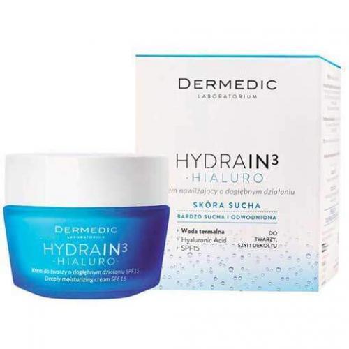 Dermedic Hydrain3 Hialuro сильно увлажняющий крем SPF15, 50г