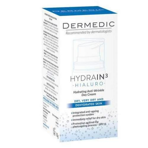 Dermedic Hydrain3 Hialuro увлажняющий крем против морщин на день 55г