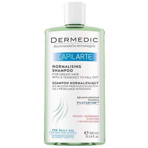 Dermedic Capilarte Нормализующий шампунь для жирных волос с проблемой выпадения, 300мл