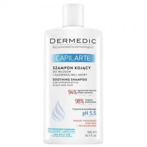 Dermedic Capilarte Успокаивающий шампунь для волос и сверхчувствительной кожи головы 300мл