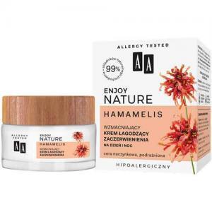 AA Enjoy Nature Hamamelis Укрепляющий успокаивающий покраснения крем день-ночь