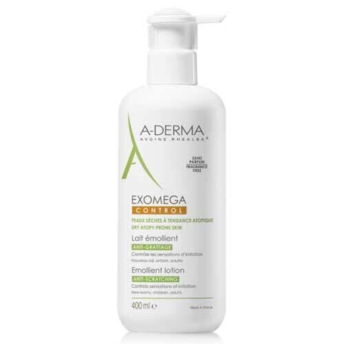 A-derma Exomega Control Смягчающий лосьон для лица и тела (Стерильный), 400 мл