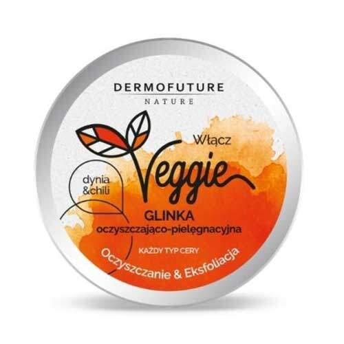 DermoFuture Очищающая отшелушивающая паста для всех типов кожи Тыква и чили Nature Veggie