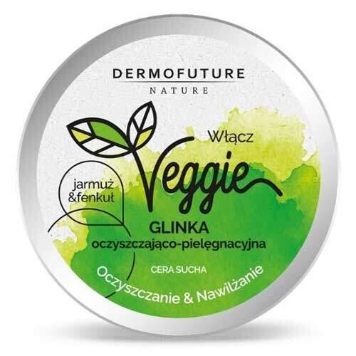 DermoFuture Очищающая увлажняющая паста для сухой кожи Капуста и фенхель Nature Veggie