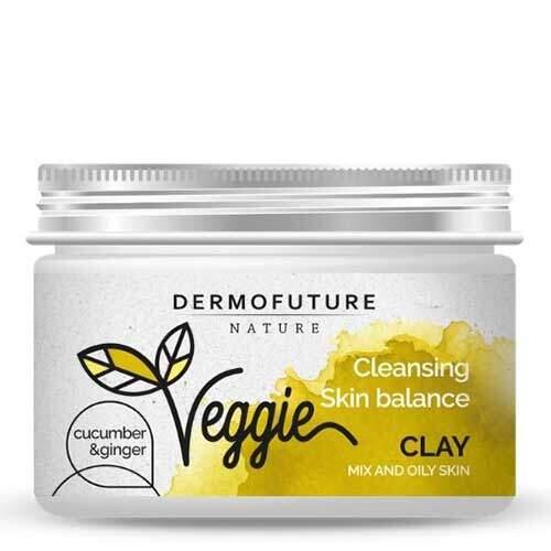 DermoFuture Очищающая восстанавливающая баланс паста для комбинированной и жирной кожи Огурец и имбирь Nature Veggie