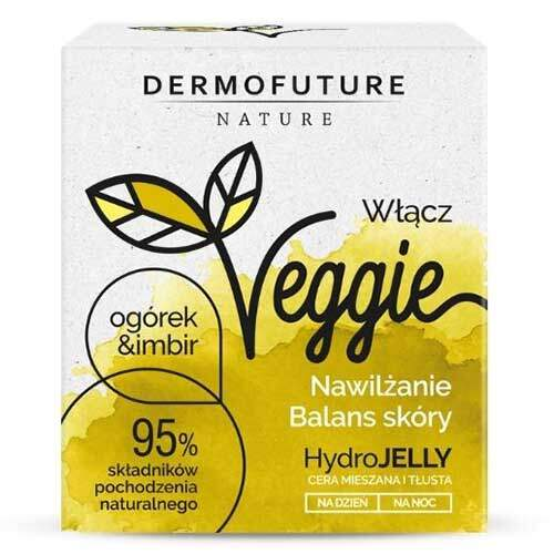 DermoFuture Увлажняющий восстанавливающий баланс гидрогель для комбинированной и жирной кожи Огурец и имбирь Nature Veggie