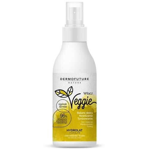 DermoFuture Гидролат для комбинированной и жирной кожи Огурец и имбирь Nature Veggie