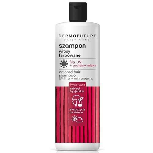 DermoFuture Шампунь для окрашенных волос с UV-фильтром и молочными протеинами Daily Care